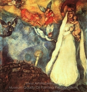 Madonna of the Village painting reproduction, Marc Chagall (inspired by)