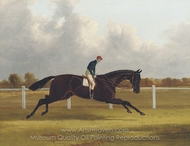 Major Yarburgh's Brown Colt,�Charles XII, Winner of the 1839 St. Leger painting reproduction, John Frederick Herring Sr.