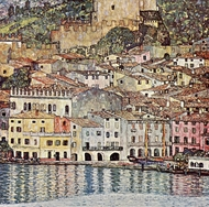 Malcesine am Gardasee painting reproduction, Gustav Klimt