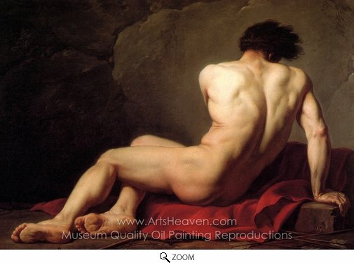 Jacques-Louis David, Male Nude known as Patroclus oil painting reproduction