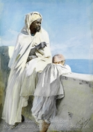 Man and Boy in Algiers painting reproduction, Anders Zorn