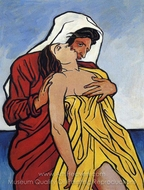 Man and Woman by the Sea painting reproduction, Francis Picabia