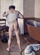 Man at His Bath painting reproduction, Gustave Caillebotte