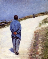 Man in a Smock painting reproduction, Gustave Caillebotte
