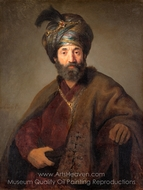 Man in Oriental Costume painting reproduction, Rembrandt Van Rijn