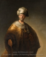 Man in Oriental Dress painting reproduction, Rembrandt Van Rijn