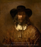 Man with a Beard painting reproduction, Rembrandt Van Rijn