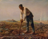 Man with a Hoe painting reproduction, Jean-Francois Millet