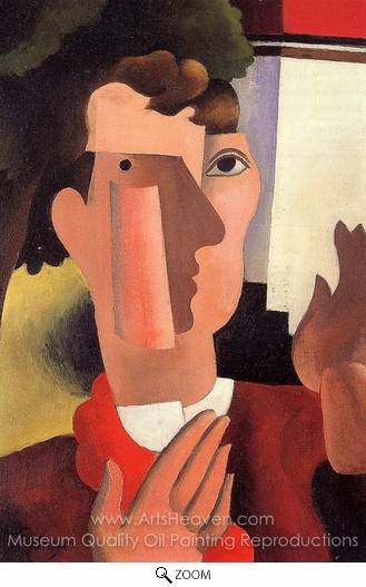 Roger De La Fresnaye, Man with a Red Kerchief oil painting reproduction