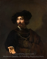 Man with a Steel Gorget painting reproduction, Rembrandt Van Rijn