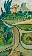 Manhufe Landscape painting reproduction, Amadeo De Souza-Cardoso