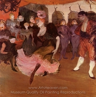 Marcelle Lender Dancing in the Bolero in Chilperic painting reproduction, Henri De Toulouse-Lautrec