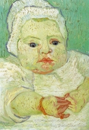 Marcelle Roulin as Baby painting reproduction, Vincent Van Gogh