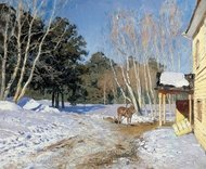 March painting reproduction, Isaak Levitan