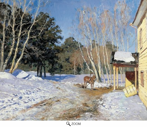Isaak Levitan, March oil painting reproduction