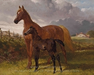 Mare and Foal painting reproduction, John Frederick Herring Sr.