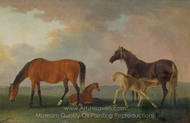 Mares and Foals, Facing Left painting reproduction, Sawrey Gilpin