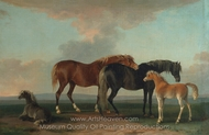 Mares and Foals, Facing Right painting reproduction, Sawrey Gilpin
