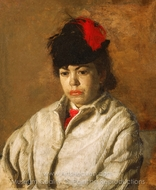 Portrait of Margaret in Skating Costume painting reproduction, Thomas Eakins
