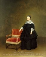 Margaretha van Haexbergen painting reproduction, Gerard Ter Borch
