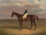 Margrave, with James Robinson Up painting reproduction, John Frederick Herring Sr.