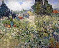 Marguerite Gachet in the Garden painting reproduction, Vincent Van Gogh