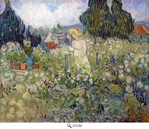 Vincent Van Gogh, Marguerite Gachet in the Garden oil painting reproduction