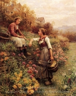 Marie and Diane painting reproduction, Daniel Ridgway Knight