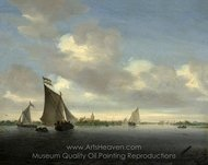 Marine painting reproduction, Salomon Van Ruysdael