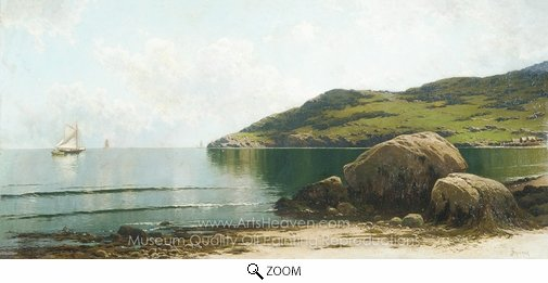 Alfred Thompson Bricher, Marine Landscape oil painting reproduction