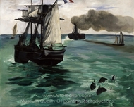 Marine View painting reproduction, �douard Manet