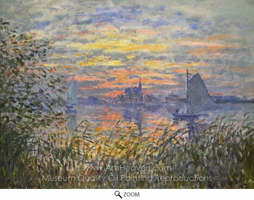 Claude Monet, Marine View with a Sunset oil painting reproduction