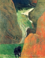 Marine with Cow Above the Abyss painting reproduction, Paul Gauguin