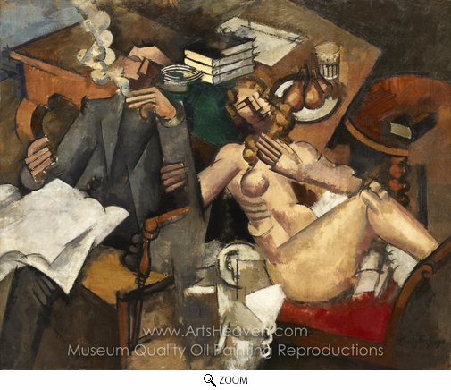 Roger De La Fresnaye, Married Life oil painting reproduction