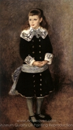 Marthe Berard (Girl Wearing a Blue Sash) painting reproduction, Pierre-Auguste Renoir