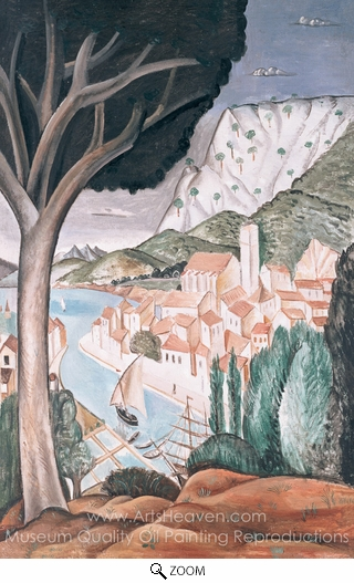 Andre Derain, Martigues Harbour in Province oil painting reproduction
