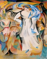 Marval at the Van Dongen's Masked Ball painting reproduction, Alice Bailly