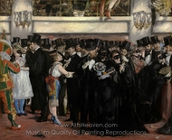 Masked Ball at the Opera painting reproduction, Édouard Manet