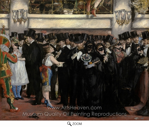 Édouard Manet, Masked Ball at the Opera oil painting reproduction
