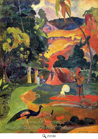 Paul Gauguin, Matamoe (Landscape with Peacocks) oil painting reproduction