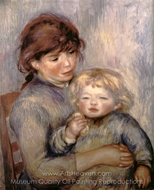 Maternity (Child with a Biscuit) painting reproduction, Pierre-Auguste Renoir