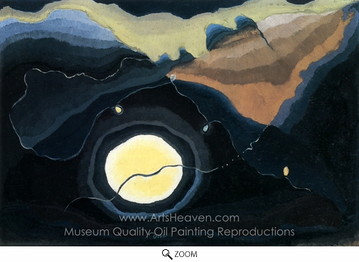 Arthur Dove, Me and the Moon oil painting reproduction