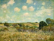 Meadow painting reproduction, Alfred Sisley