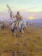 Medicine Man painting reproduction, Charles Marion Russell