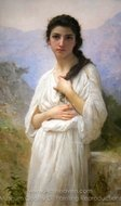 Meditation painting reproduction, William A. Bouguereau