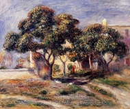 Medlar Trees, Cagnes painting reproduction, Pierre-Auguste Renoir