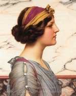 Megilla painting reproduction, John William Godward