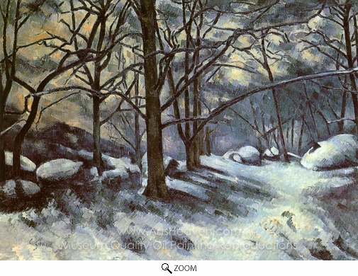 Paul Cézanne, Melting Snow at Fontainebleau oil painting reproduction