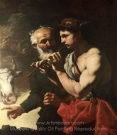 Mercury Piping to Argus painting reproduction, Johann Carl Loth