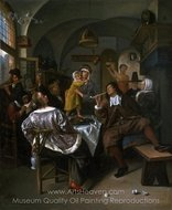 Merry Company painting reproduction, Jan Steen